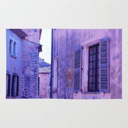 Ancient purple village Rug