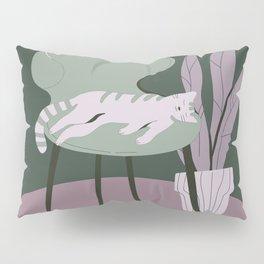 Grey Green Laziness Pillow Sham
