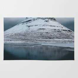 Iceland Mountain Reflection - Landscape Photography Rug
