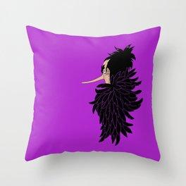 Karasu the Tengu Throw Pillow