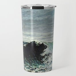 Gustave Courbet - The Wave Travel Mug