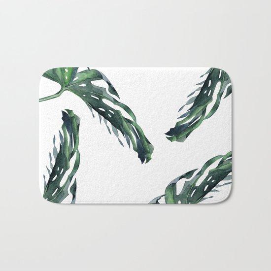 Tropics Palm Leaves Green Bath Mat