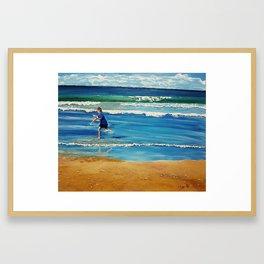 You throw the sand against the wind Framed Art Print