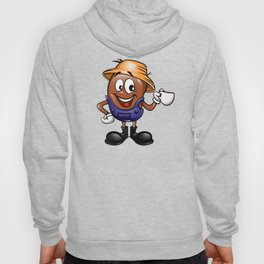 Farmer coffee bean cartoon  Hoody