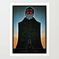 star lord Art Prints featuring Star-Lord by Lazare Gvimradze