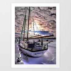 Tall Ship Appledore II Locked in Ice Art Print