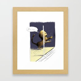 Window Scratching Framed Art Print