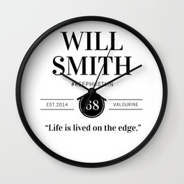 34   |  Will Smith Quotes | 190905 Wall Clock