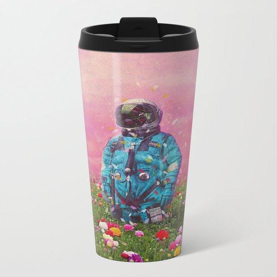 The Flower Field Metal Travel Mug