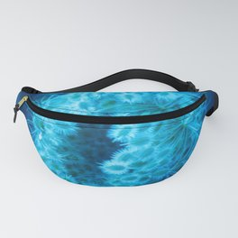 Blue Closing Queen Anne's Lace Fanny Pack