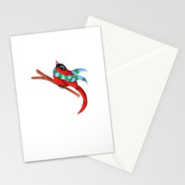 Warm Red Stationery Cards