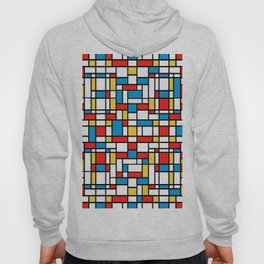 Mondrian design, abstract pattern Hoody