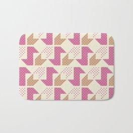 Clover&Nessie  Pink/Sand Bath Mat