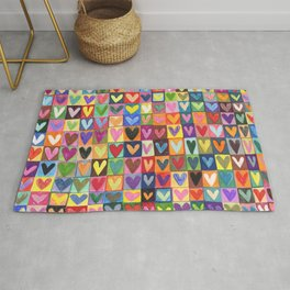 Many hearts and colours Rug