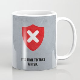Lab No. 4 - It's Time To Take A Risk Business Inspirational Quotes Poster Coffee Mug
