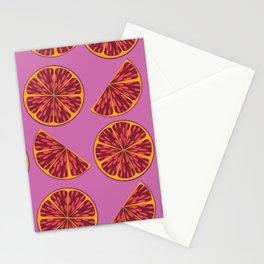 Grapefruit Love Pattern Stationery Cards