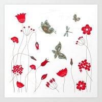 Tatemae Japanese White Art Print