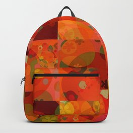 """Circles & Flowers Cartoon"" Backpack"