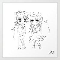 Chibi Love Doodle Art Print