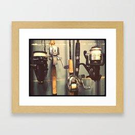 Fishing pole Framed Art Print