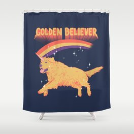 Golden Believer Shower Curtain