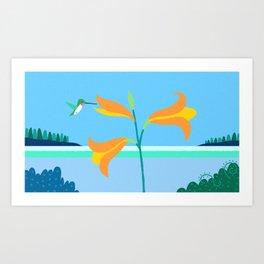 Ruby Throated Hummingbird Eastport, Maine Art Print