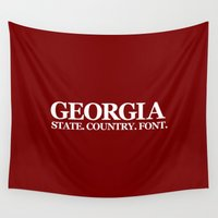 georgia Wall Tapestries featuring Georgia by The Cracked Dispensary