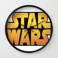 starwars Wall Clocks featuring StarWars by Camorrista