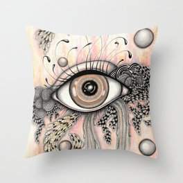 observando la vida Throw Pillow