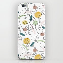 One Line Portraits #society6 #figurative iPhone Skin