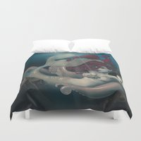 siren Duvet Covers featuring Siren Song by Lettie Bug
