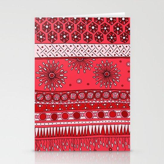 Yzor pattern 007-3 pink Stationery Cards