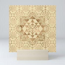 Sri Yantra  / Sri Chakra Pastel Gold Mini Art Print