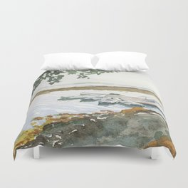 The Boats Are Singing Duvet Cover