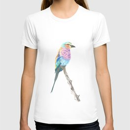 Lilac Breasted Roller - Colored Pencil T-shirt