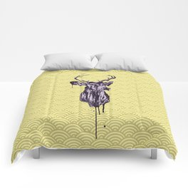 Deer Head IV Comforters