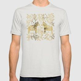 Swedish Dala Horses – Gold Palette T-shirt