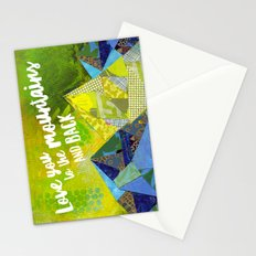 Love You to the Mountains and Back Collage Stationery Cards