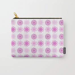 Pretty in Pink, pink geometric flower mandalas Carry-All Pouch