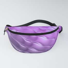 Violet satin ripple Fanny Pack