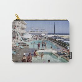Shalimar Motel Pool 1960's, Wildwood, New Jersey, Retro Motel Carry-All Pouch