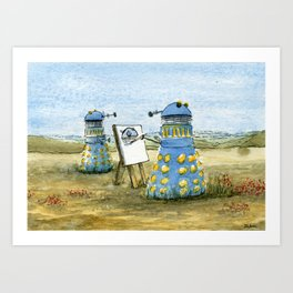 Dalek Painting Art Print