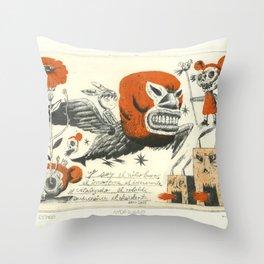 Niño Burro Throw Pillow
