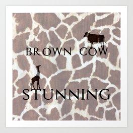 Brown Cow, Stunning Art Print
