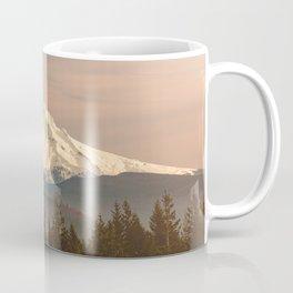 Mount Hood Vintage Sunset - Nature Landscape Photography Coffee Mug