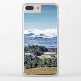 Mountain Landscape Panorama Clear iPhone Case