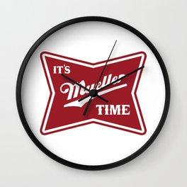 It's Mueller Time Wall Clock