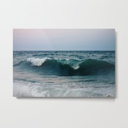 Atlantic Ocean Waves Metal Print