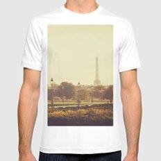 Springtime in Paris White MEDIUM Mens Fitted Tee
