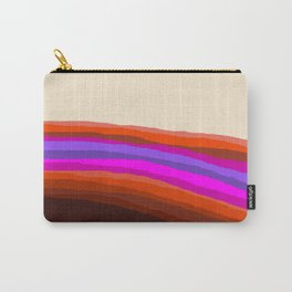 Orange, Purple, and Cream Abstract Carry-All Pouch